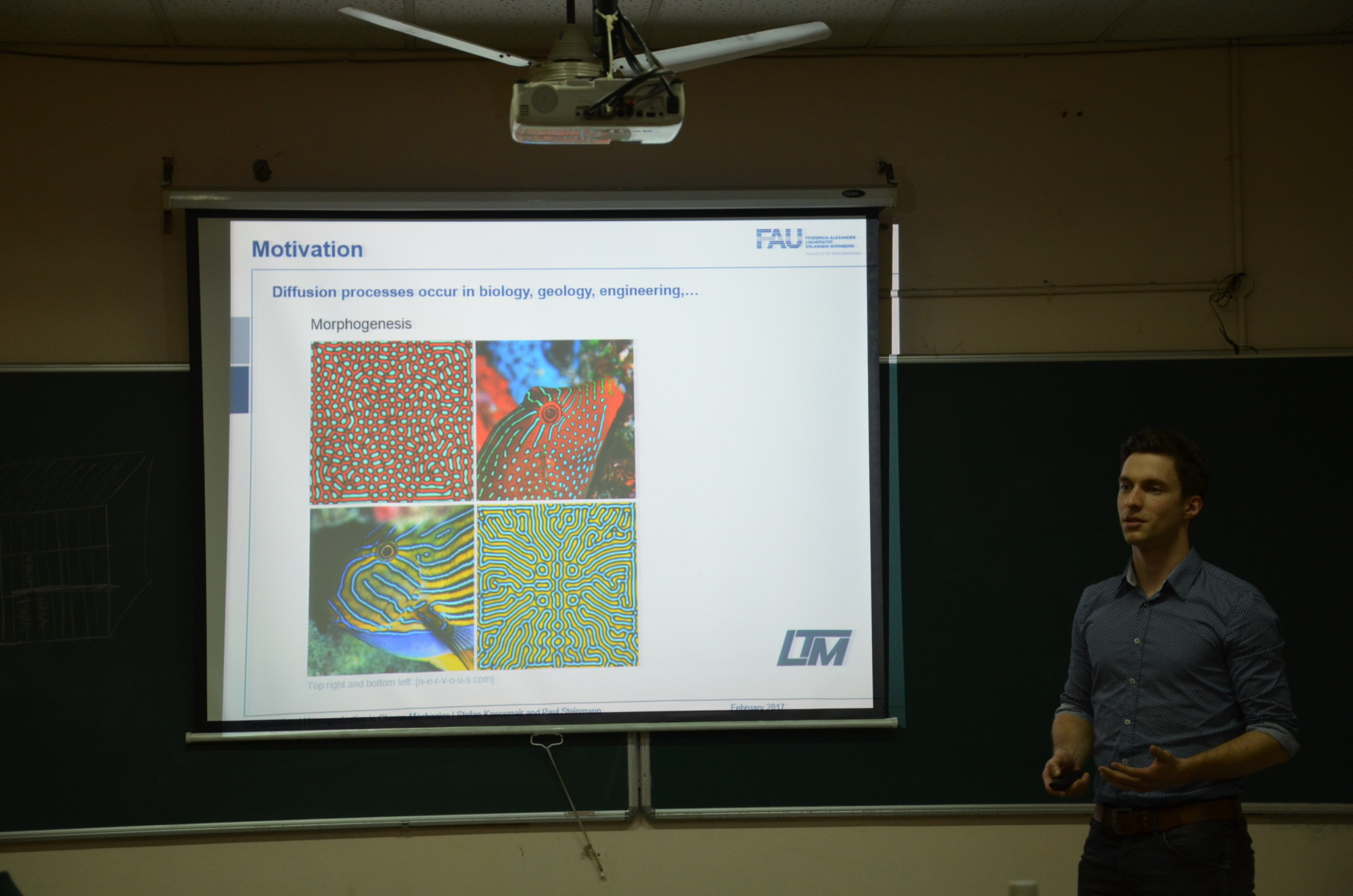 "Dr. Stefan Käßmair giving a presentation for the workshop ""Multiscale and Multiphysics – Challenges in Continuum Mechanics"" at the Indian Institute of Technology Delhi."
