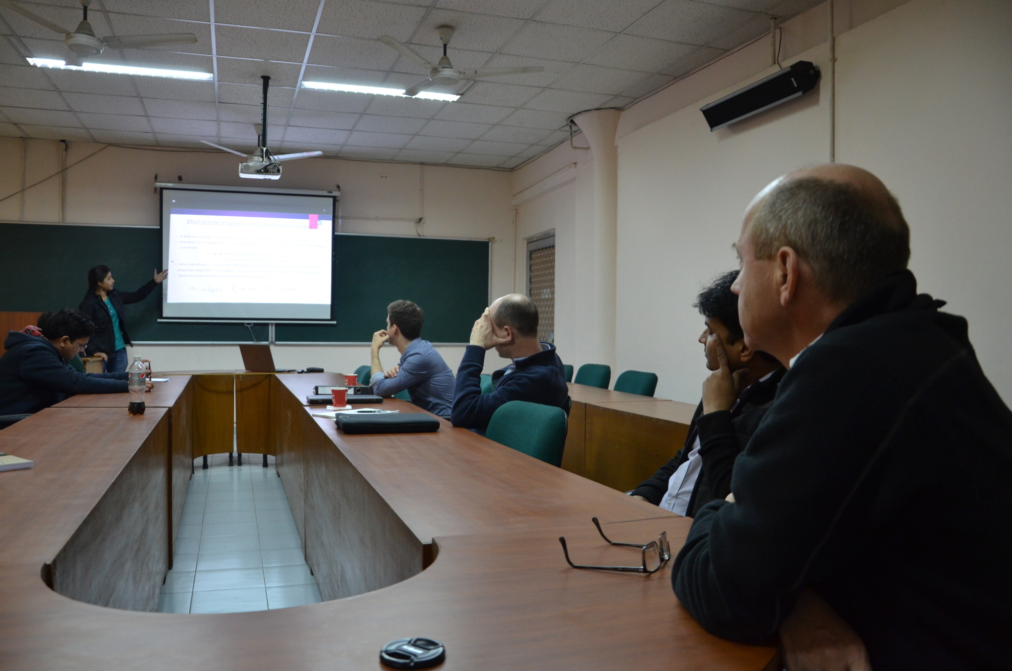"Smriti giving a presentation about higher order diffusion for the workshop ""Multiscale and Multiphysics – Challenges in Continuum Mechanics"" at the Indian Institute of Technology Delhi."